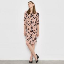 Платье с рисунком и длинными рукавами