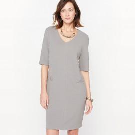 Платье из рельефного трикотажа
