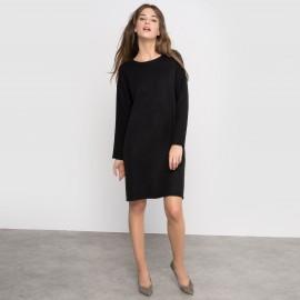 Платье-пуловер с разрезами