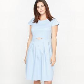 Платье расклешенное с короткими рукавами