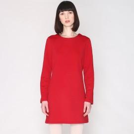 Платье прямое в стиле свитшота с длинными рукавами