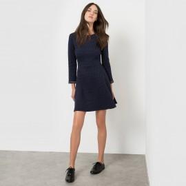 Платье из стеганой ткани с рисунком