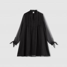 Платье с длинными рукавами из вуали с высоким воротником с галстуком-бантом RADIANTE RADIANTE