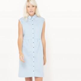 Платье однотонное длиной до колен без рукавов