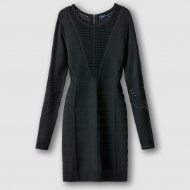 Платье ажурное с длинными рукавами DUO DANNI KNITS LS RDNK DRESS