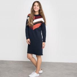 Платье вязаное разноцветное, 100% хлопок