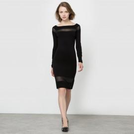 Платье трикотажное с длинными рукавами
