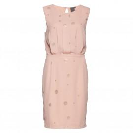 Платье плиссированное в горошек PLANET