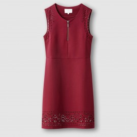 Платье, низ с перфорацией
