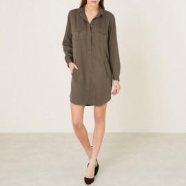 Платье-рубашка из тенсела