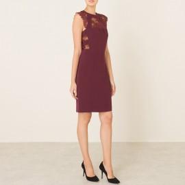 Платье из крепа и кружева
