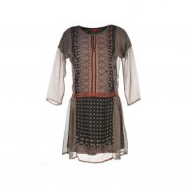 Платье Salers из вуали с принтом