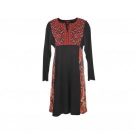 Платье Satiete с принтом и вышивкой