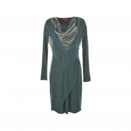 Платье Satin, фуляр с бахромой