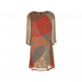 Платье Scaramouche из вуали с принтом