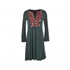 Платье из трикотажа Genievre, с расшитой манишкой