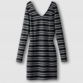 Платье облегающее с V-образным вырезом VIRIGGA DRESS