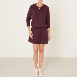 Платье-пуловер с капюшоном