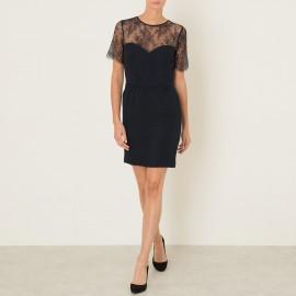 Платье из двух материалов