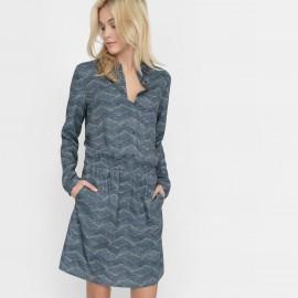 Платье с принтом и рубашечным воротником