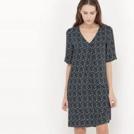 Платье струящееся  с рисунком