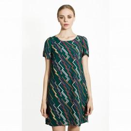 Платье с графичным рисунком