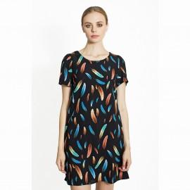 Платье с рисунком перья