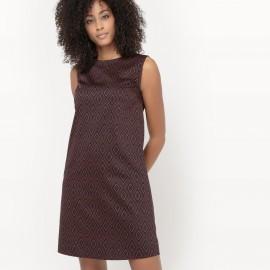 Платье прямое без рукавов с принтом