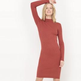 Платье-пуловер с воротником-стойка