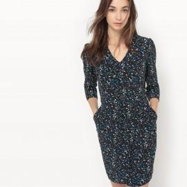 Платье с зернистым рисунком Chloe