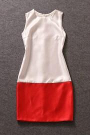 Элегантное бело-красное платье Valentino