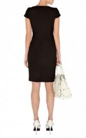 Деловое черное платье-футляр с серебристыми пуговицами Asos