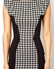 Стильное деловое черно-белое платье Coast
