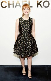 Черное платье а-силуэта Michael Kors
