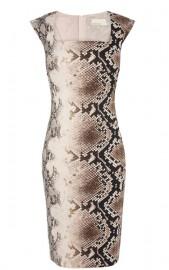 Коричневое платье с модным принтом Asos
