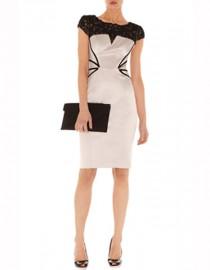 Атласное платье с отделкой из черного кружева Asos