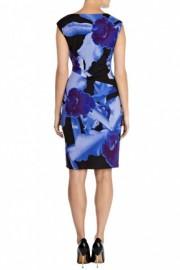 Женственное платье с принтом из цветков ириса Karen Millen