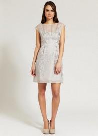 Изысканное расшитое серое платье Chloe