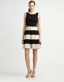 Платье с полосками на юбке Kate Spade