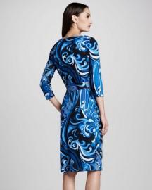 Стильное синее платье на каждый день Emilio Pucci