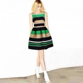 Стильное трикотажное платье в полоску Alex Perry