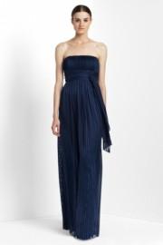 Длинное вечернее синее платье BCBG MaxAzria