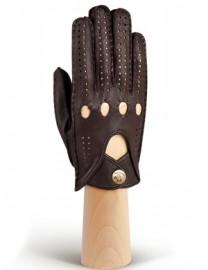 Автомобильные перчатки женские без пальцев HS101W d.brown (Eleganzza)