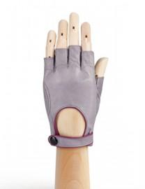 Автомобильные перчатки женские подкладка из шелка IS221W l.grey/cranberry (Eleganzza)