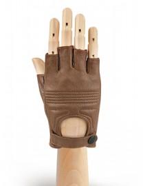Автомобильные перчатки женские подкладка из шелка IS985L camel (Eleganzza)