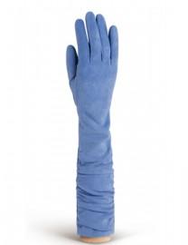 Длинные кожаные женские перчатки подкладка из шелка IS02010 surf (Eleganzza)