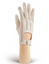 Кожаные автомобильные перчатки без пальцев IS783 beige (Eleganzza)