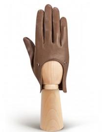 Кожаные перчатки для вождения без пальцев HP01200 taupe (Eleganzza)