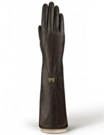 Перчатки длинные зимние п/ш LB-0877 d.brown (Labbra)