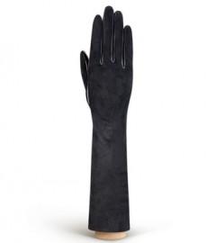 Перчатки длинные зимние (шерсть и кашемир) IS5003 black (Eleganzza)